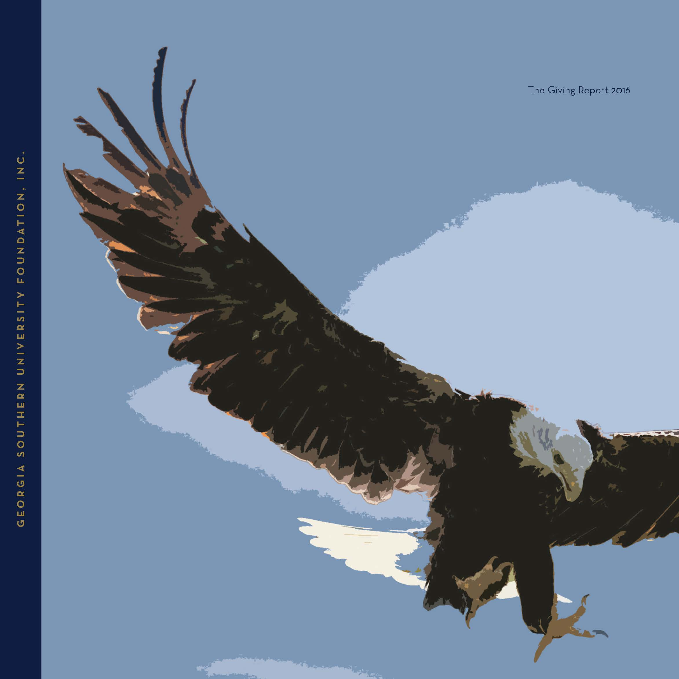 The Giving Report 2016 eagle with spread wings